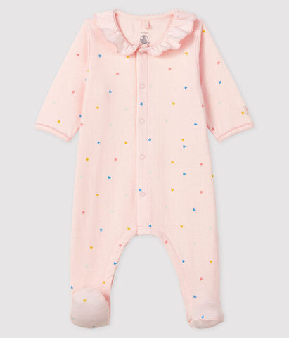 Pink Hearts Baby Sleeper
