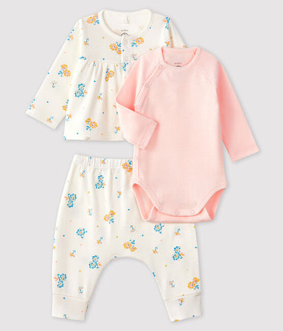 Baby 3-Piece Set - Yellow Floral