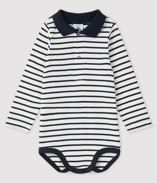 Long Sleeve Stripped Onesie