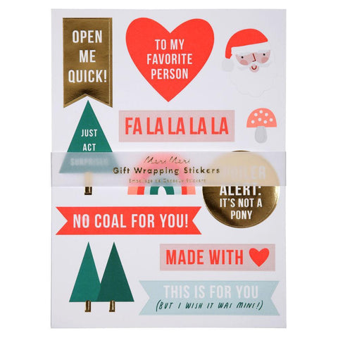 Meri Meri Festive Gift Wrapping Stickers