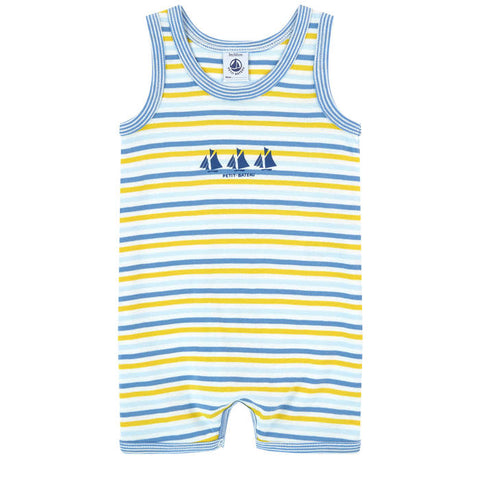 Petit Bateau Stripped One-piece Shortall