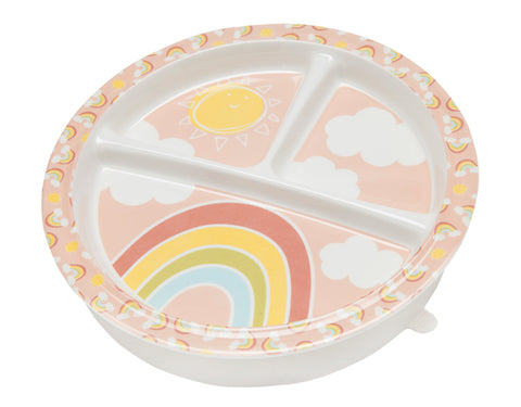 Divided Suction Plate Rainbows & Sunshine