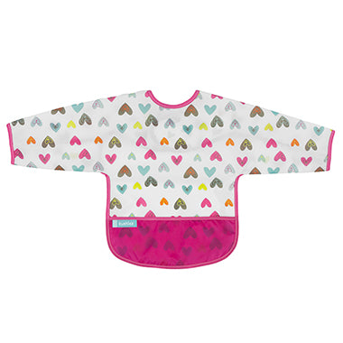 Kushies Cleanbib With Sleeves - Hearts