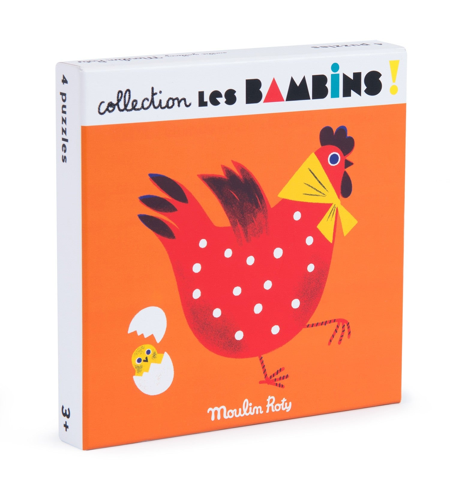 Box of 4 animal puzzles 10 pieces Les Bambins Moulin Roty