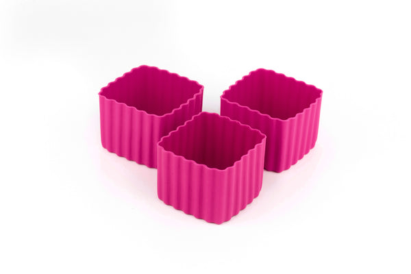 Bento Cups Square - Dark Pink