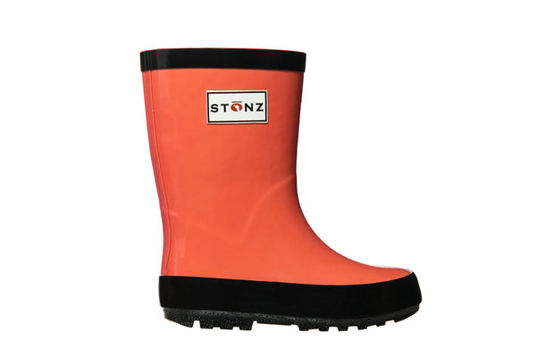 Stonz Rain Boots Waterproof natural rubber - Coral