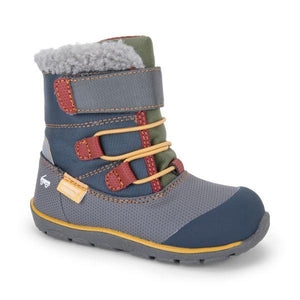 Gilman Waterproof Winter Boots -  Gray/Blue