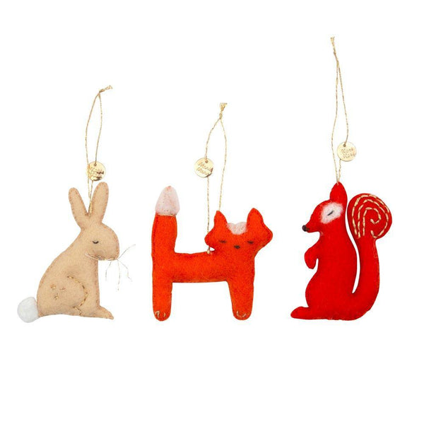 Forest Animal Tree Decoration Set