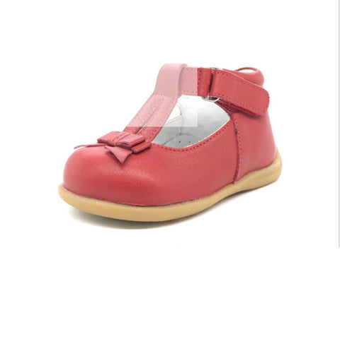 Nubebe First Step Red Leather Shoes