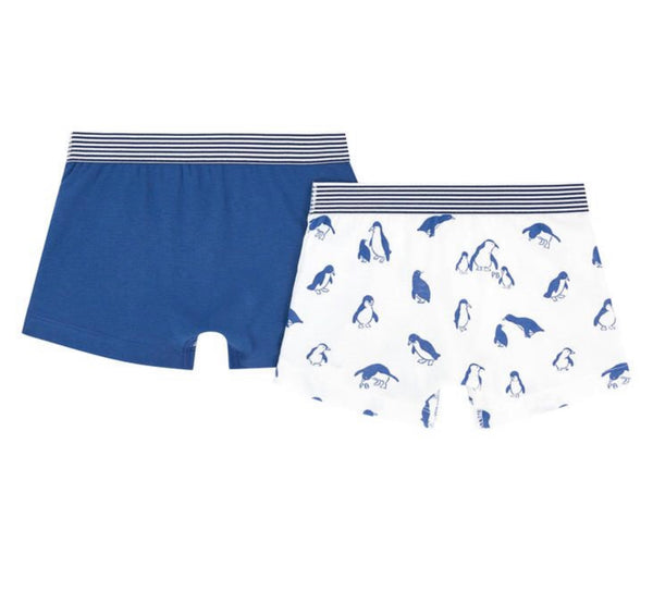 Pack of 2 Boxers Blue Penguin