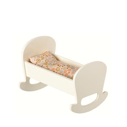 Maileg Baby Mouse Cradle with Bedding