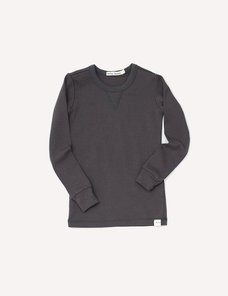 Dominique Long Sleeve Crew - Graphite