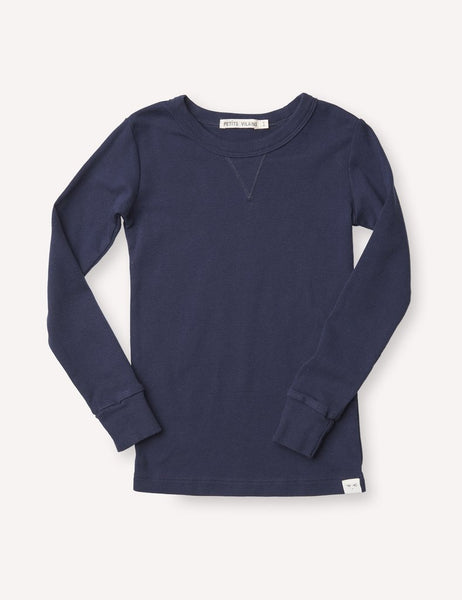 Dominique Long Sleeve Crew - Marine