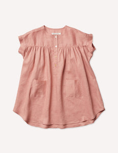 Petits Vilains Emmanuelle Henley Dress - Tea Rose