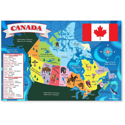 Melissa and Doug Extra Large Canada Map Floor Puzzle