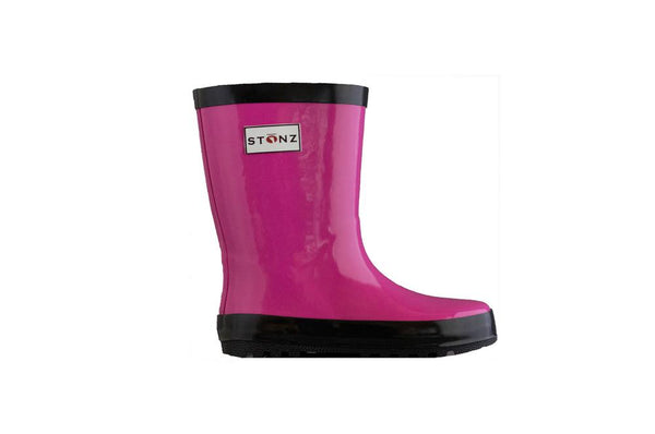 Stonz Rain Boots Waterproof natural rubber - Fuchsia