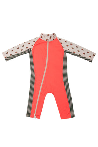 Stonz Sun Suit - Forest Trail Coral