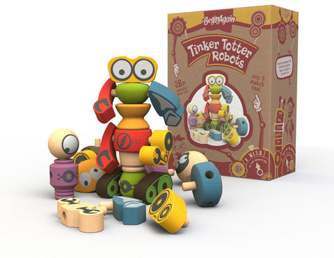 Begin Again Tinker Totter Robot Character Set
