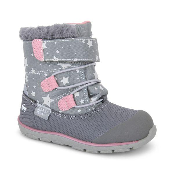 Gilman Waterproof Winter Boots -  Gray/Stars