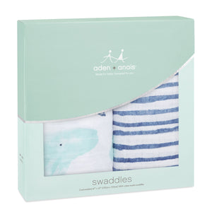 Aden & Anais Classic Swaddle Seafaring 2-pack