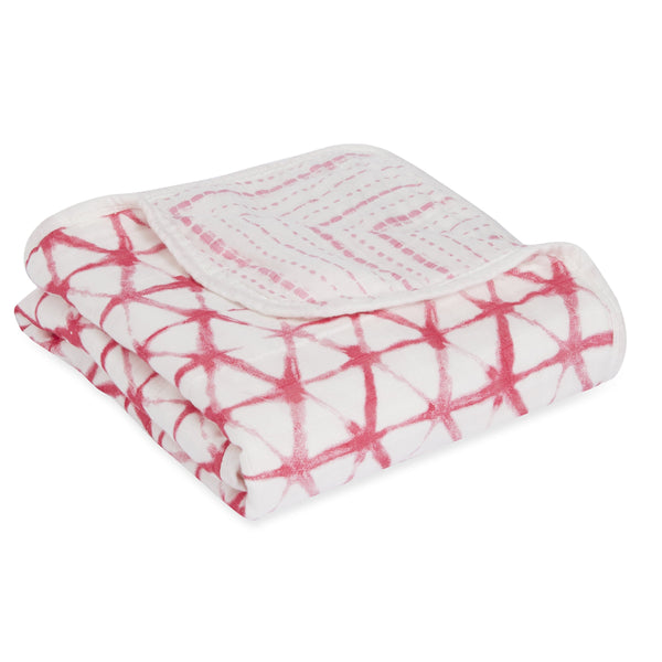 Aden & Anais Silky Soft Dream Blanket Berry shibori