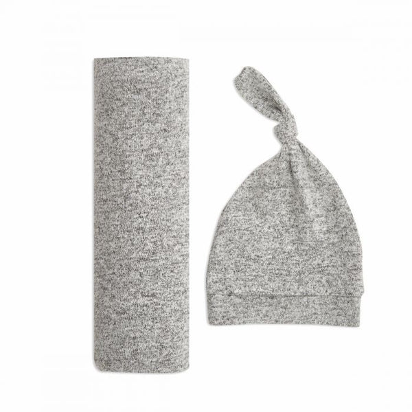 Snuggle Knit Swaddle Gift Set - Heather Grey