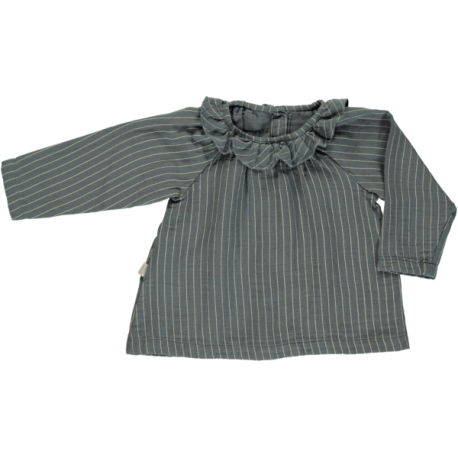Charme Blouse - Stormy Weather Stripes