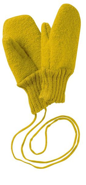 Disana Boiled Wool Gloves - Curry