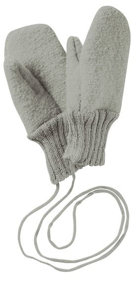 Disana Boiled Wool Gloves - Grey