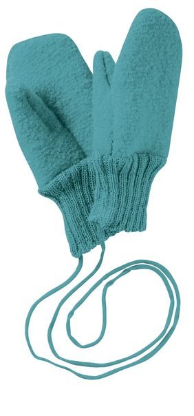 Disana Boiled Wool Gloves - Lagoon
