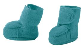 Disana Boiled Wool Booties - Lagoon