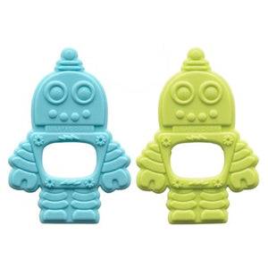 Silicone Teether Set of 2 Retro Robot