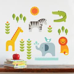 Safari Animals Fabric Wall Decals