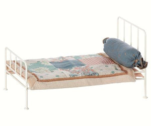 Maileg Metal Bed, Mini - Offwhite
