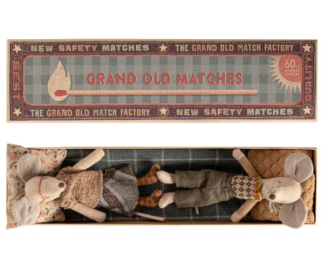 Maileg Grandpa and Grandma Mice in Matchbox