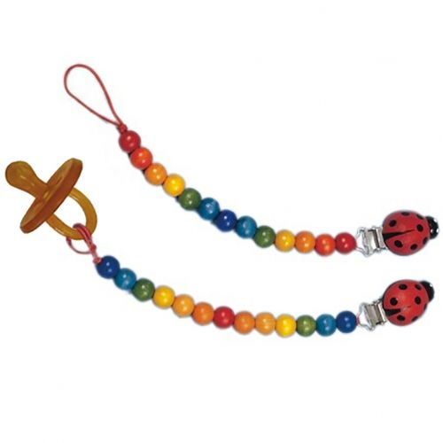 Gluckskafer Rainbow Pacifier Chain with Clip