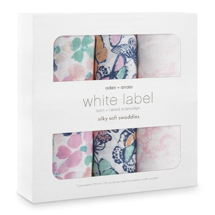 Aden & Anais Silky Soft Swaddles White Label ( 3-pack) - Festival
