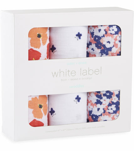 Aden and Anais 3-pack classic swaddles White Label Flora
