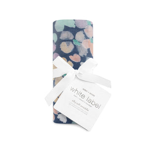 White Label Silky Soft Swaddle Festival - Dark Mosaic