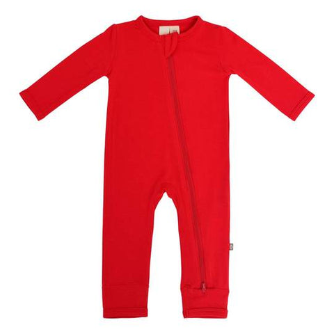 Zippered Romper - Crimson