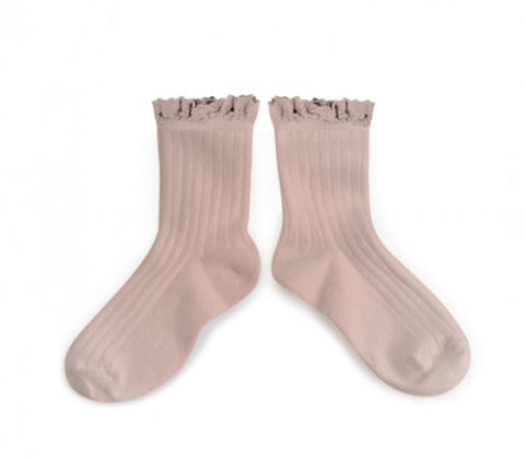 Collegien Cotton Short Socks With Lace