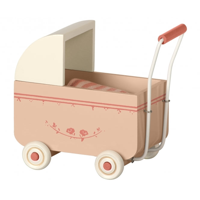 Maileg pram, light pink