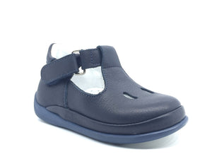 Nubebe First Step Navy Leather Shoes