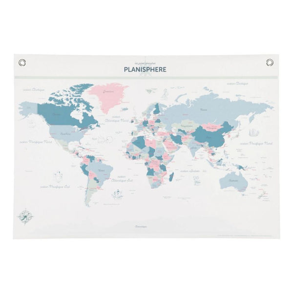 Poster Les Jolies Planches - World Map