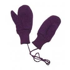 Disana Boiled Wool Gloves - Plum