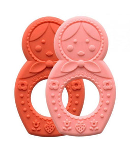 Silicone Teether Set of 2 Matryoshka Doll
