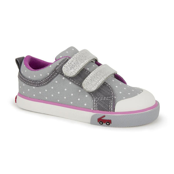 See Kai Run - Robyne Grey Dots Sneakers