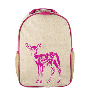 SoYoung Raw Linen Pink Fawn Grade School Backpack