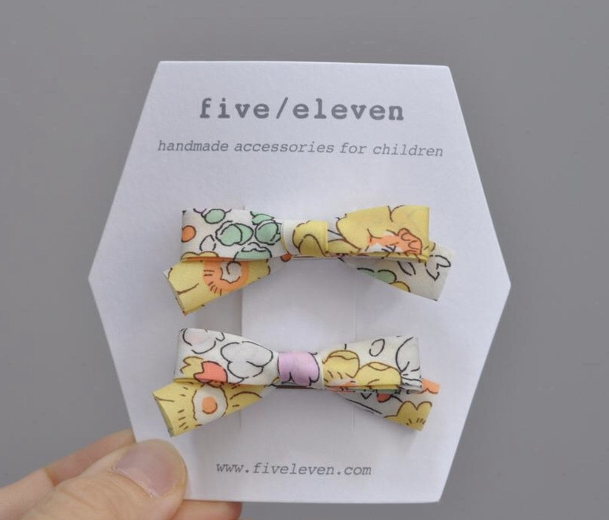 Five/Eleven Barrettes -  Liberty and co. - Betsy Sunshine