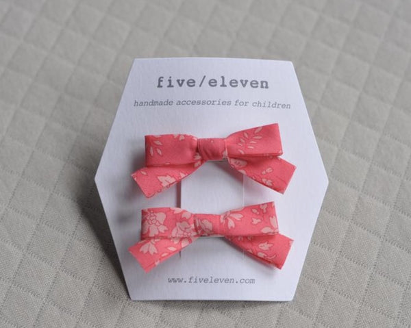 Five/Eleven Barrettes -  Liberty and co. - Peach